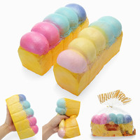 Kawaii Soft Jumbo Loaf Bread Rainbow Squishy Donut Galaxy Color 21cm Slow Rising Big Size Collection