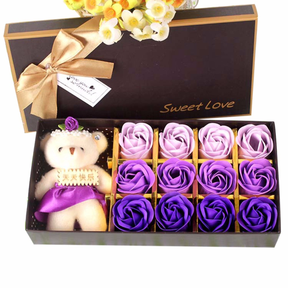 Simulation-Flower Gift Home-Decoration Gradient-Color Sweet Creative Soap Fragrance Useful