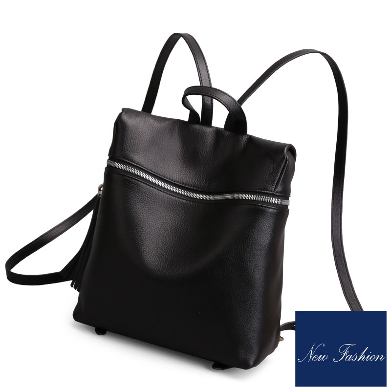 Sauvage Haute En Veau À Cuir Fringe Dos Loisirs Qualité Souple Mode Importés De Black Femmes Sac Sacs Minimaliste Décoré aq8IwPwx5B