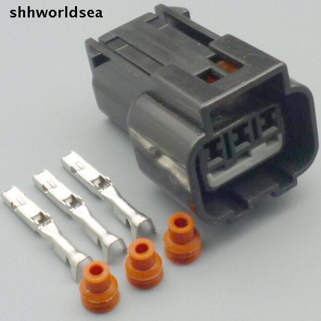 shhworldsea 5/30/100sets kit 1.5mm 3pin 3way auto wiring female waterproof connector KPB016-03427
