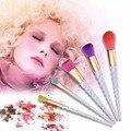 VANDER 5Pcs unicorn Professional Makeup Brushes Set Cosmetic Contour Blending Eyeshadow Powder Pinceis Tools Kabuki Brush Kits