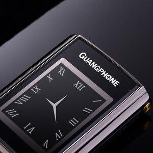 Image 5 - נעילה Flip Slim מגע תצוגה כפולה בכיר טלפון לזקנים שני Sim מצלמה P047