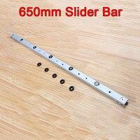 High Quality 2PCS Lot Woodworking Tools High Quality Aluminium Miter Slider Bar Length 650mm KF762
