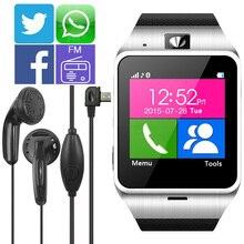 2016 nuevos Aplus GV18 Smartwatch Bluetooth Reloj Inteligente Para Android IOS Teléfono apoyo TF Tarjeta SIM SMS GPRS NFC FM PK DZ09 GT08 U8