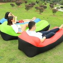 New Design on 2019 Garden Sofa Inflatable Sofa lazy bag Air Beach Bed Lounger Bag Mattres Sleeping Lazy Bag Air Sofa Bed Pad
