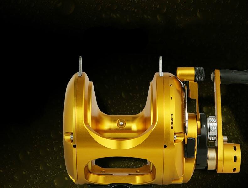 tambor fundido liga alumínio oceano roda pesca bastcasting pesca