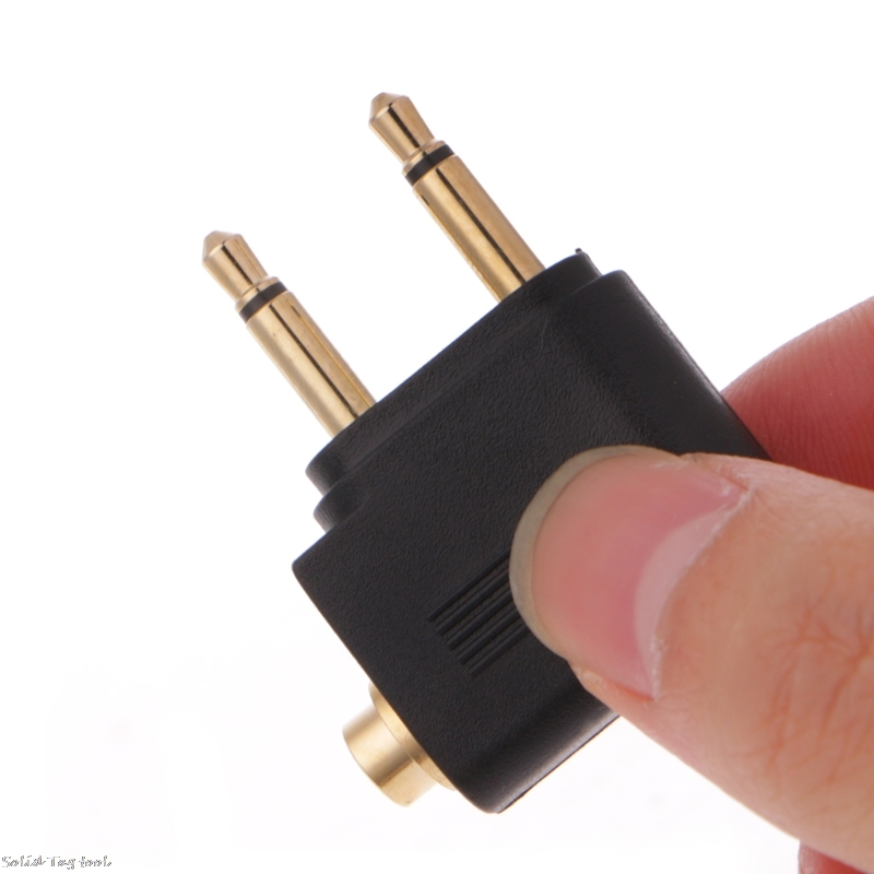 2 Pcs Gold Plated 3.5mm 2 Male To 1 Female Headphone Jack Socket Audio Adapter #319