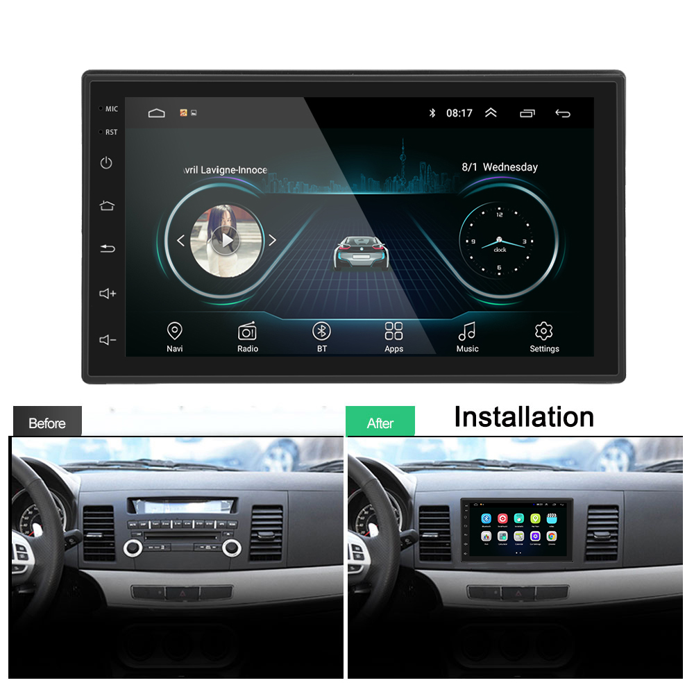 Image 3 - Podofo 2 Din Car Radio Android Universal GPS Navigation Bluetooth Touchscreen Wifi Car Audio Stereo FM USB Car Multimedia MP5-in Car Radios from Automobiles & Motorcycles