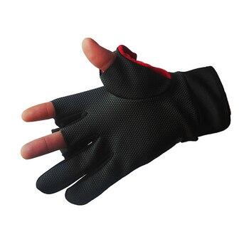 Daiwa Winter Warm Rękawice Wędkarskie Bawełna 3 Palce Cut Wodoodporne Antypoślizgowe Rękawice Wędkarskie Jazda Na Zewnątrz Turystyka Sportowa