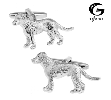 IGame 3D Dog Cuff Links For Men Quality Brass Material Lovely Animal Style Free Shipping