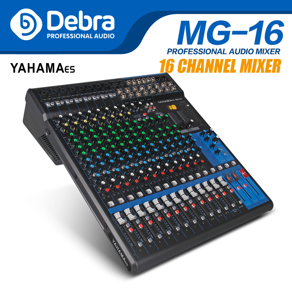 Professional YAHAMA es Audio 16 Channel with 24bit Sound Effects Studio Mixer Audio DJ Sound Controller Interf