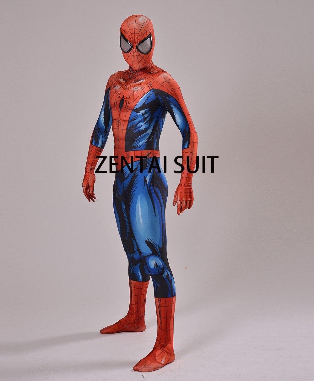 2016 Nuevo Último Traje de Spiderman Spandex Sombra 3D Traje de - Disfraces - foto 4