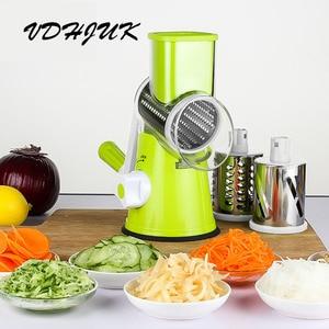 Image 3 - Multifunctional Manual Vegetable Spiral Slicer Chopper  Slicer Grater Vegetable Cutter Kitchen Tools