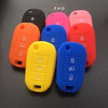 Защитный чехол ZAD для Citroen C2, C3, C4, Picasso, Xsara, C5, C6, C8, складной, с 3 кнопками