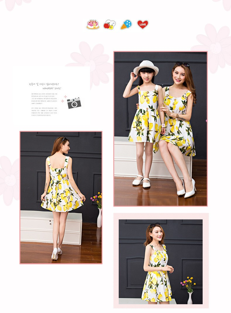 New Arrival Kids Girls Fresh lemon summer European Printed Dress ... 98f90bdf2