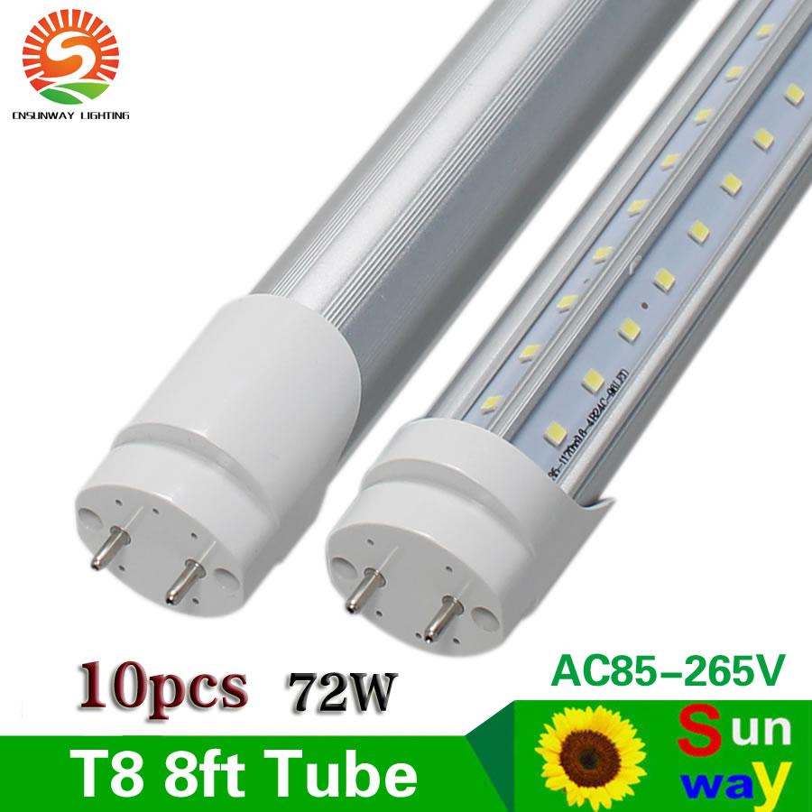 SUNWAY LED Tube Lamp G13 V-Shaped 270 Degree 8ft Led Tube Light T8 Warm/Cold White 2400mm 8 Ft Led Tube Lights Garage CE 25PCS