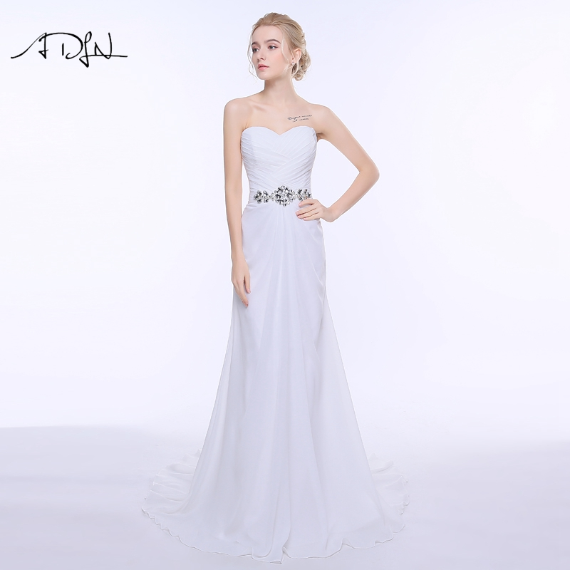 Vestido de novia de playa de encaje blanco marfil vestido de novia - Vestidos de novia