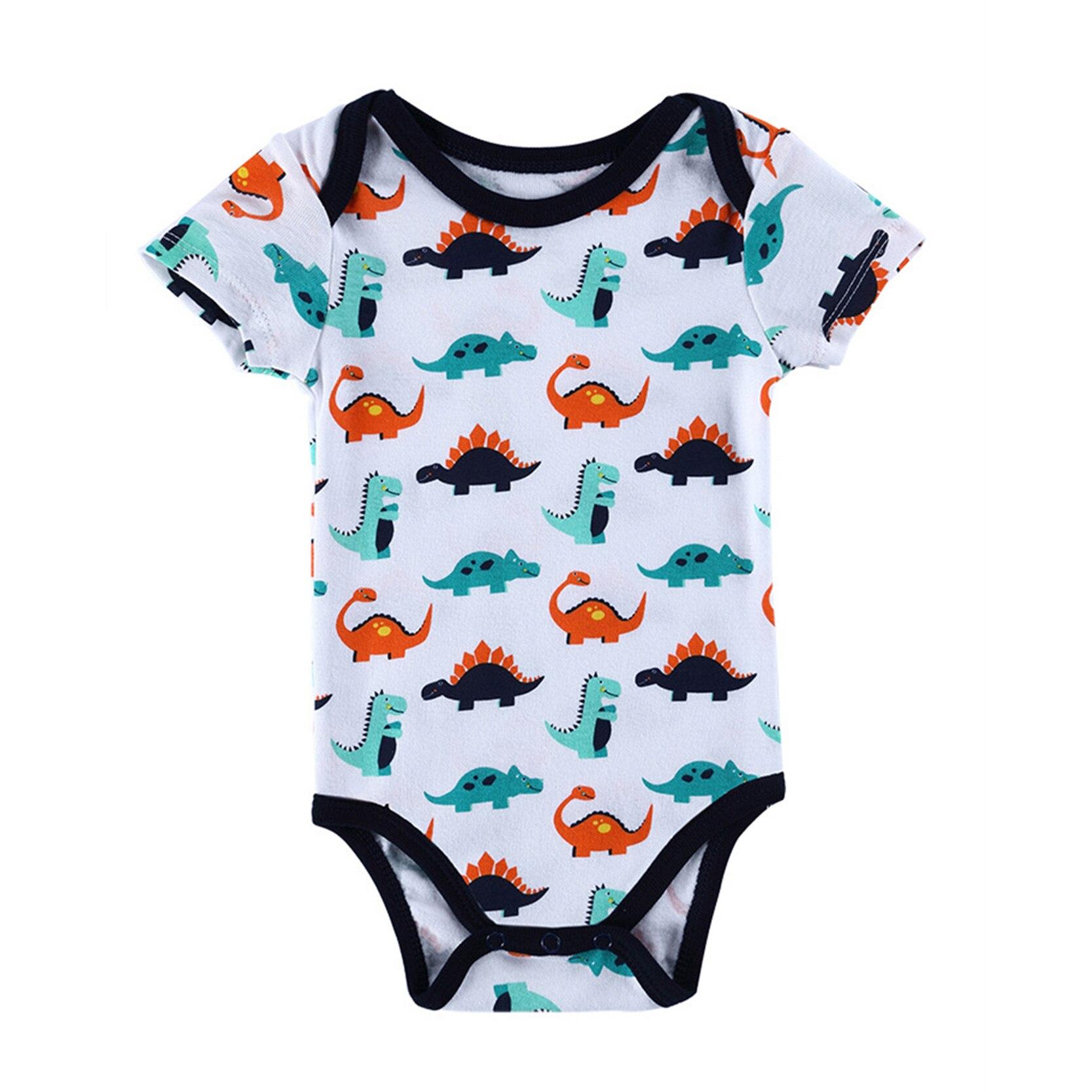 Baby Romper Short Sleeve Cotton Jumpsuit Newborn Baby Boy Girl Clothes Cartoon Bodysuit Summer Infant Clothing