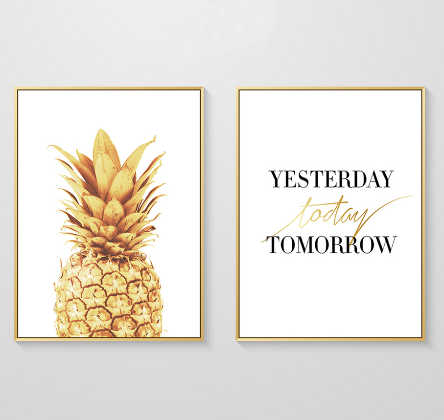 SURELIFE-New-Nordic-Minimalist-Gold-Pineapple-Canvas-Paintings-Wall-Art-Poster--Pictures-For-Living-Room (2)