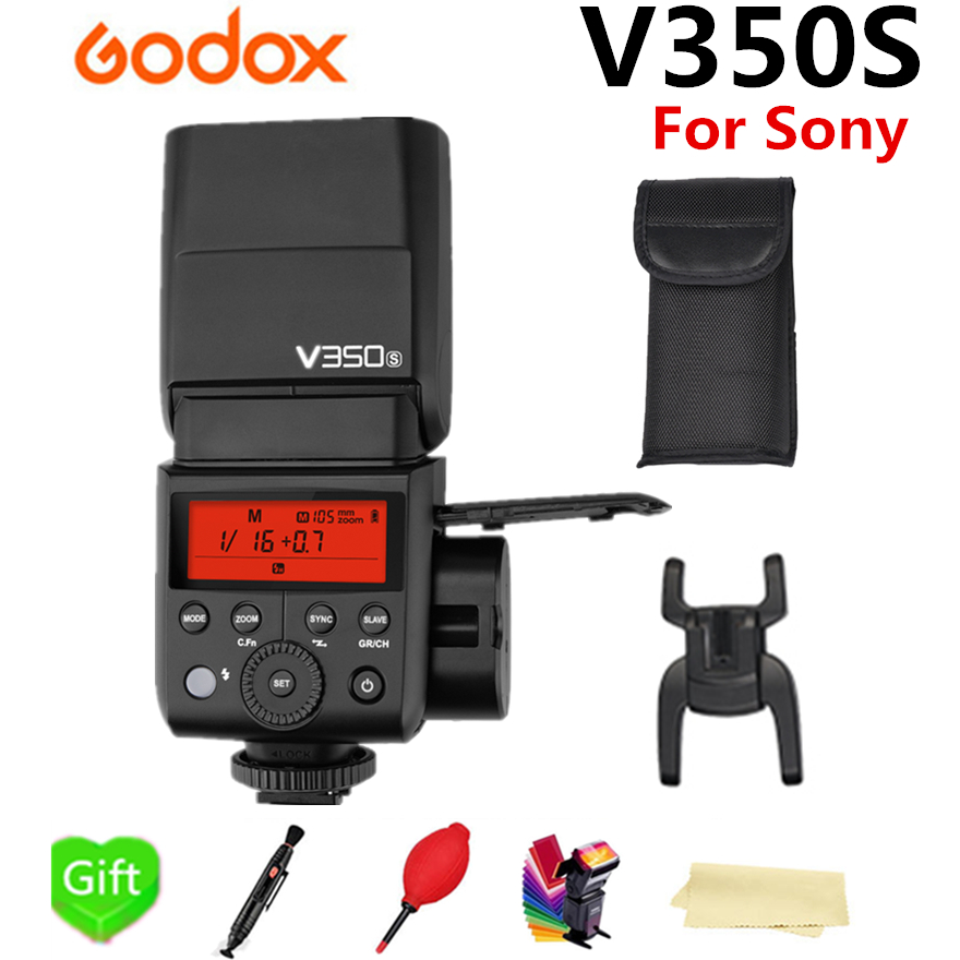 Godox V350S HSS 2.4G Wireless X System Li- battery Flash TTL GN36 1/8000s Camera Flash Speedlite for Sony DSLR Camera + GiftGodox V350S HSS 2.4G Wireless X System Li- battery Flash TTL GN36 1/8000s Camera Flash Speedlite for Sony DSLR Camera + Gift