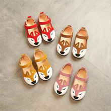 Spring autumn Children girls fox shoes Girls Shoes Flat casual Shoes 4colors 21-30 8823 TX05