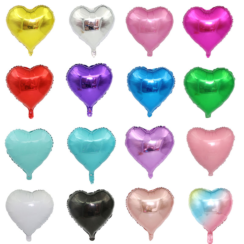1pc 18inch Star Heart Inflatable Helium Balloon For Birthday Party Decorations 2