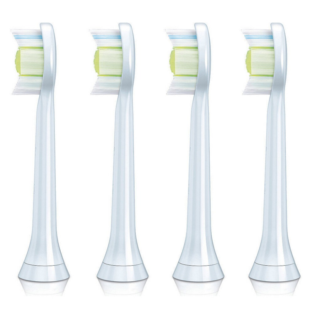 (4-Pack) TOOTH BRUSH HEADS For PHILIPS Sonicare FlexCare Diamond Clean HX6064 HX6930 HX9340 HX6950 HX6710 HX9140 HX6530 4pcs lot replacement toothbrush heads for philips sonicare proresults hx6013 66 hx6530 hx9340 hx6930 hx6950 hx6710 hx9140