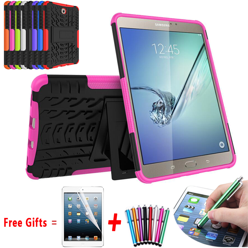 For Samsung Galaxy Tab s2 8.0 Case Best Kickstand Hybrid Silicone Hard Cover for Samsung Galaxy Tab S2 8.0 Case T710 T715 T719N tire style tough rugged dual layer hybrid hard kickstand duty armor case for samsung galaxy tab a 10 1 2016 t580 tablet cover