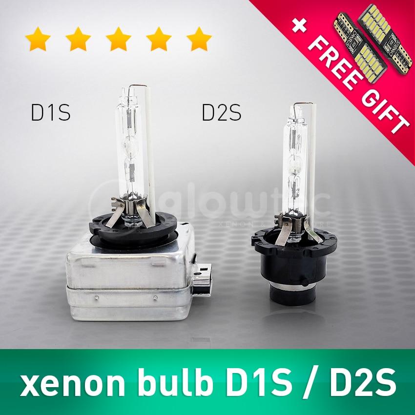 2 pcs 35W D1S D2S Headlight Bulb HID Xenon Lamp Car Light 4300K 5000K 6000K 8000K 10000K 12000K auto GLOWTEC + FREE GIFT ...