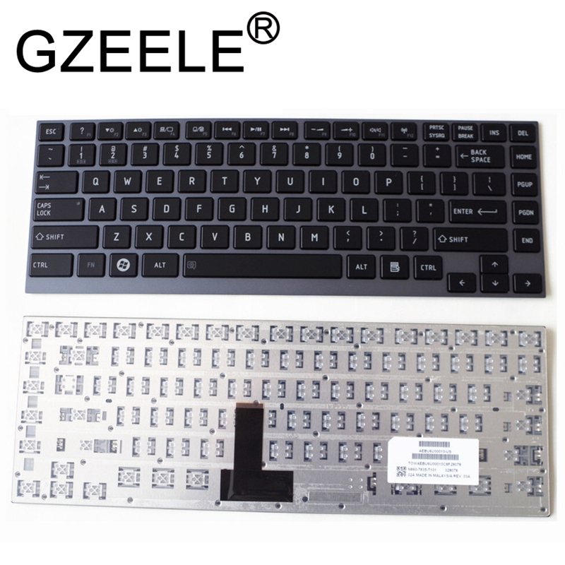 GZEELE US English Keyboard For Toshiba Satellite U800W U845 U900 U920 U920T U925 U940 R830 Z935 U835 Z835 R835 R700 U800 KB