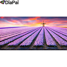 DIAPAI Diamond Painting 5D DIY 100% Full Square/Round Drill Flower landscape Diamond Embroidery Cross Stitch 3D Decor A18543 цена