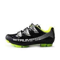 TIEBAO S1688 Professionale MTB scarpe da Bicicletta Scarpe Black & Colore Fluo Arancio Tacchetto SPD MTB Ciclismo Scarpe Mountain Bike Scarpe Compatibile