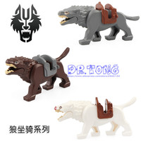 50pcs Lord of the Ring Wolf Figures War Horse Building Blocks Bricks Models Figure Toys RZ200 RZ201 RZ202