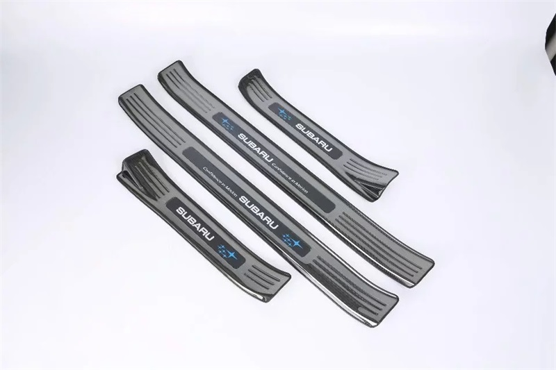 Stainless Steel Car Styling Car Welcome Pedal External Car Scuff Plate Door Sill Cover Trim Special For Subaru XV 2018 2019 4pcs qhcp stainless steel auto door sill strip scuff plate welcome pedal trim protector car styling for lexus nx200 300 300h 200t