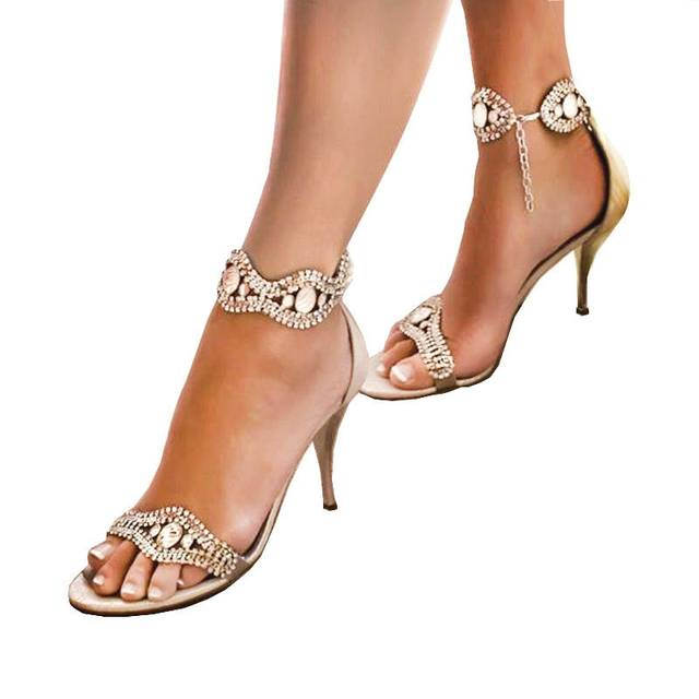 sneakers nice cheap half price CHS680 Custom Handmade Champagne Low Heel Crystal Bridal Wedding Shoes  Dress Sandals High Heels Women Shoes DHL Fast Shipping