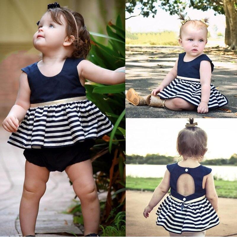 Newborn-Baby-Girls-Party-Princess-Pageant-Tutu-Dress-Kid-Toddler-Navy-Blue-Dresses-2
