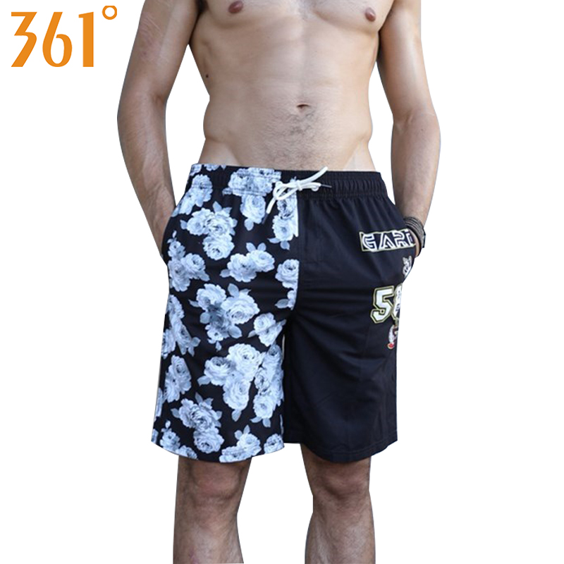 361 Surfing Shorts for Men Quick Dry Beach Pants Mens Board Shorts Plus Size Men Swimsuit 2018 Swimming Trunks Male Swimwear