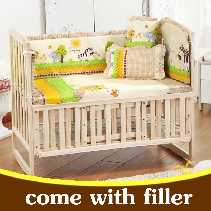 5pcs/set newborn baby bedding set kids bedding set 100x58cm cartoon baby crib bumper baby cot set infant baby bed bumper CP01