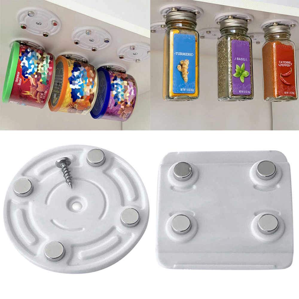 New Creative CanLoft Magnetic Canned Food Hangers Magnetic Hooks Save Space In Your Pantry Strong Refrigerator Storage Tool #A