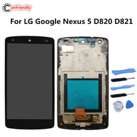 For LG Google Nexus 5 D820 D821 Display + Touch Screen LCD With Frame Replacement Digitizer Assembly For LG Google Nexus 5 lcds
