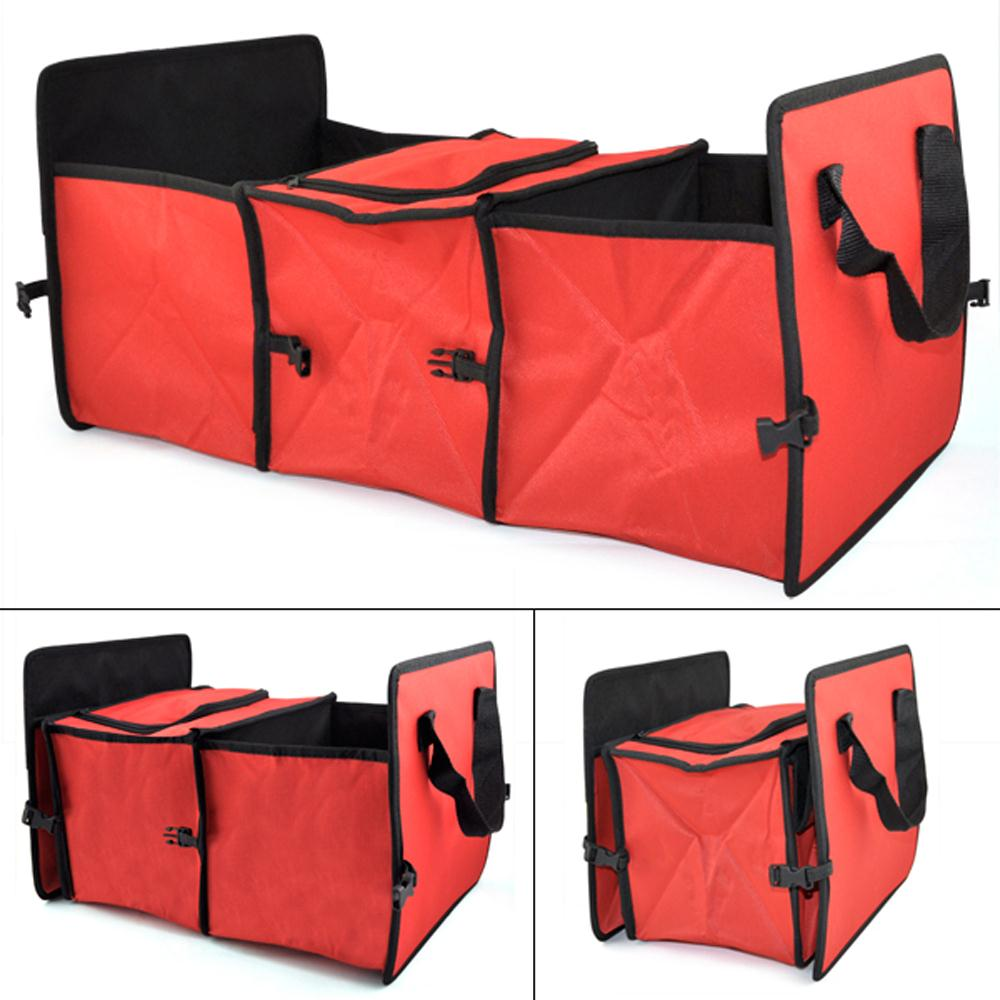 X2 Heavy Duty Collapsible Car Boot Organiser Foldable Shopping 2 in 1 Storage UK