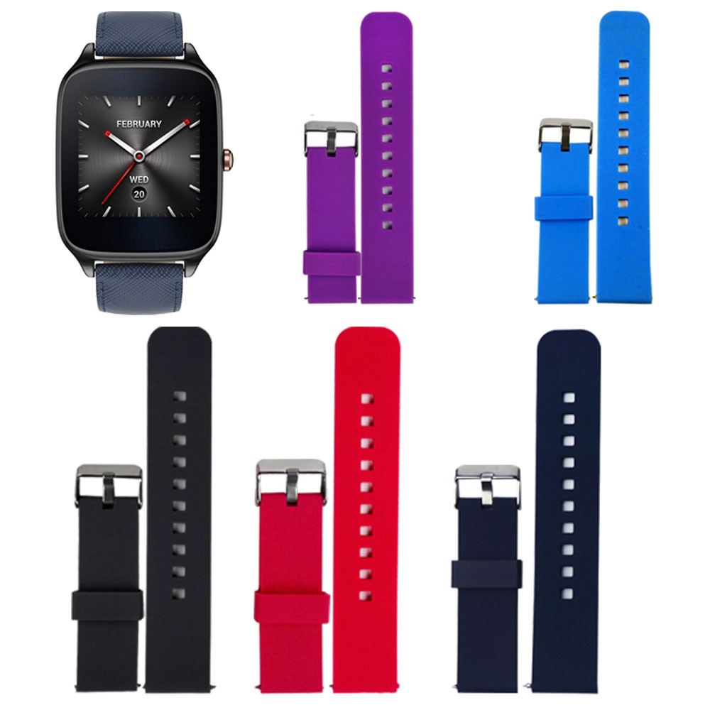 22mm Sports Watch Band Silicone Strap Fitness For ASUS ZenWatch 2 Smart Watch High Quality Wristband Correa Reloj Many Colors