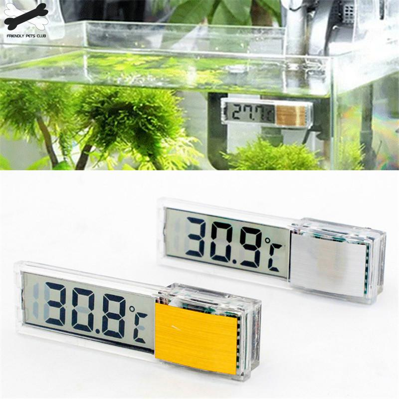 Aquarium Thermometer Digital LCD Electronic Fish Tank 3D Digital Temperature Gauge Sticker Shrimp Fish Turtle G3615