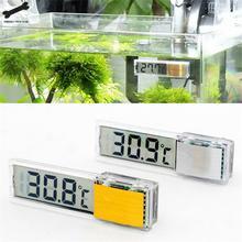 Aquarium thermometer Digital LCD electronic fish tank 3D temperature gauge sticker shrimp turtle G3615