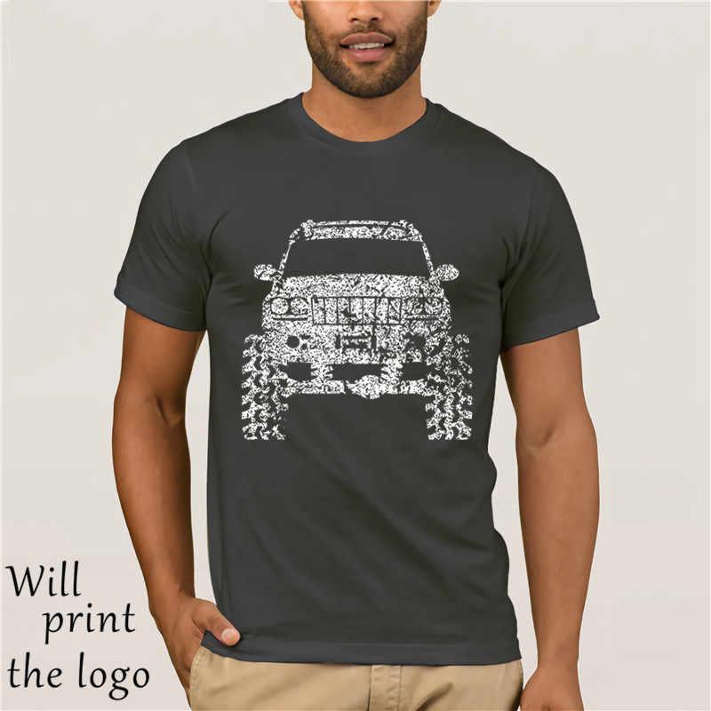 2018 Short Sleeve Cotton Man Clothing  Grand Cherokee WJ Lifted Offroad 4 X 4 Tshirt T Shirts
