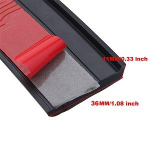 Image 3 - 4 個 4.9ft 黒ユニバーサル車のフェンダーフレアホイール眉毛スタイリングアクセサリー成形プロテクターリップアンチスクラッチアーチトリム