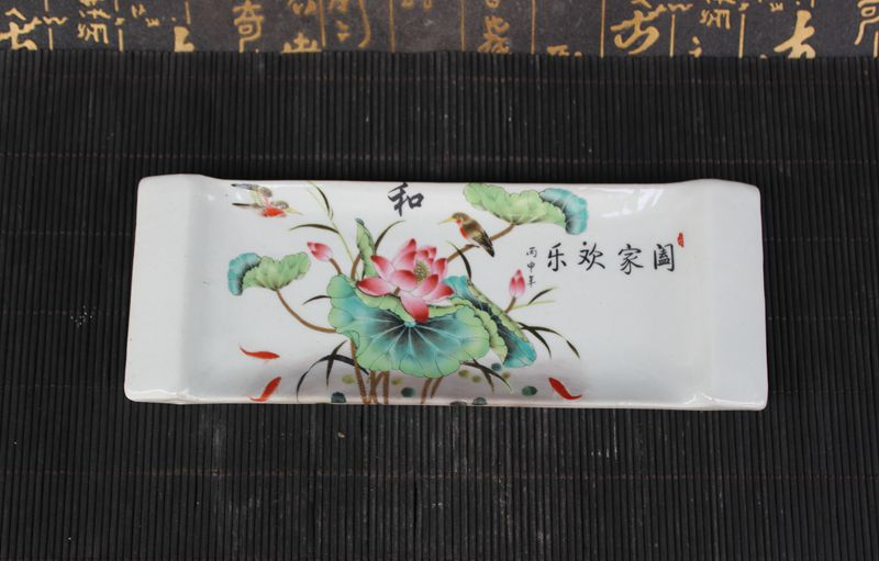 Archaize porcelain office supplies, pen rack decoration technology, Jingdezhen pottery pen collection