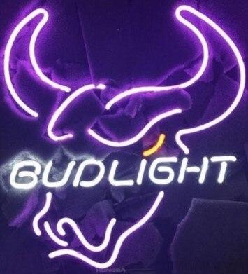 Bud Light Bull Neon Light Sign Beer Bar