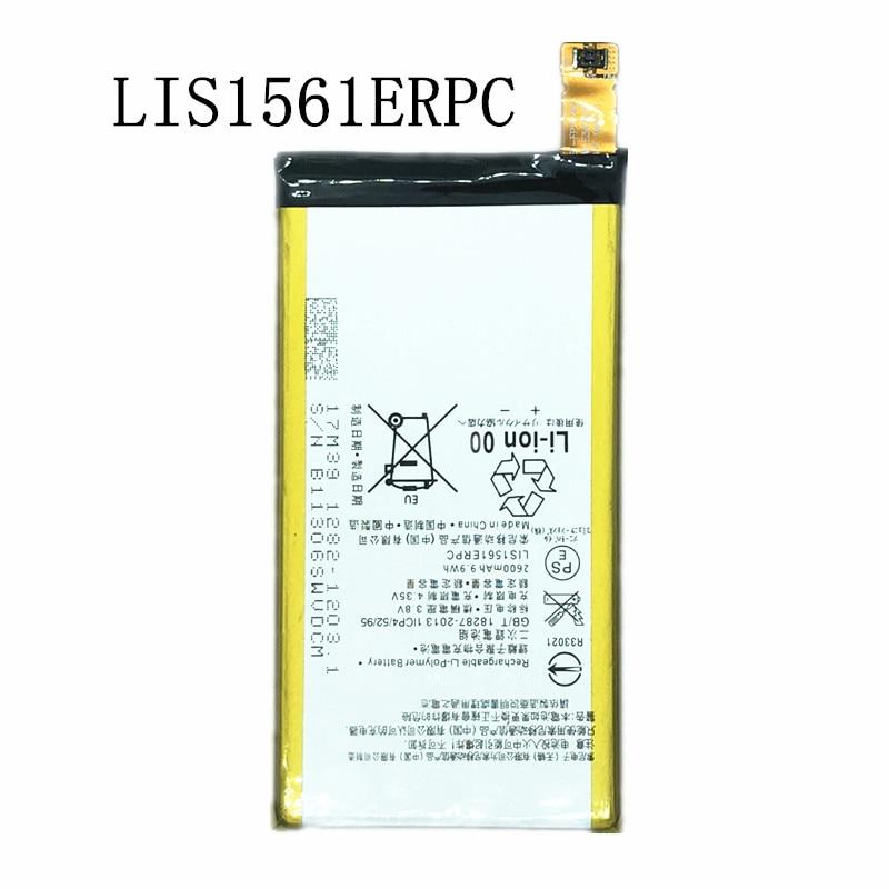 Nova bateria de substituição de 2600 mah lis1561erpc para sony xperia z3 compact z3c z3mini d5803 d5833 c4 e5303 e5333 e5363 e5306