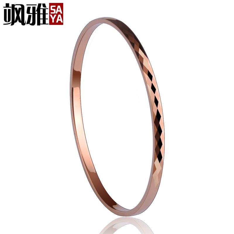 Haute qualité belle plaqué or Rose tungstène or Bracelet Bracelet bijoux pour femme/filles/dame boîte-cadeau gratuite